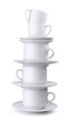 Stack of coffee and tea cups