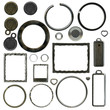 the set of different types of metal plates and rings
