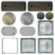 the set of different types of metal plates