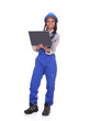 Portrait Of Female Worker With Laptop