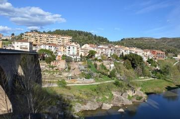 Monistrol de Montserrat, vue du pont médiéval