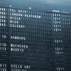 Anzeigetafel Airport monochrom