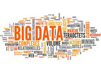 BIG DATA (tag cloud, français)