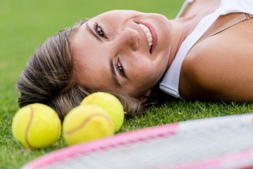 Beautiful tennis player