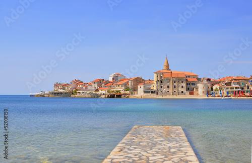 Leinwandbild Motiv Fischerstadt / Hafenstadt Umag Kroatien