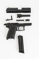 disassembled gun