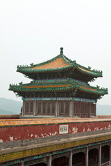 Tibetan Architecture in Putuo Temple of cases, Chengde, Mountain