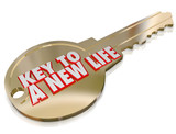 A New Life Gold Key Begin Fresh Restart Improvement