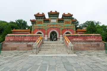 Chinese traditional style building in an ancient garden, north c