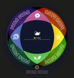 Modern circle infographic minimal design template