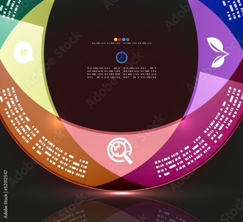 Modern circle infographic minimal design template