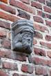 Détail de la façade du château de Grand-Bigard