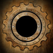 Gear - Brown Rusty Metal Porthole