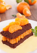brownie and orange