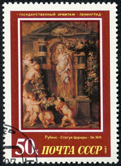 """painting artist Peter Paul Rubens """"Statue of Ceres 1612-15"""