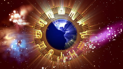 Golden Astrology Zodiac Signs and Planet Earth
