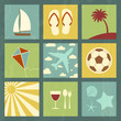 Summer icons set.