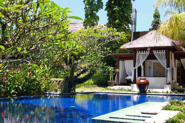 Swimming pool in a hotel, Bali, Ubud