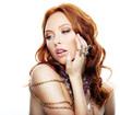 Beautiful model with luxury jewelry
