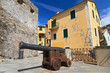 small square with cannon in Camogli