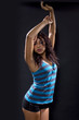 Sexy latina dancing/clubbing