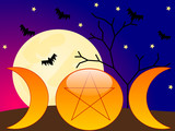Wicca background poster