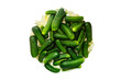 green pickles in circle
