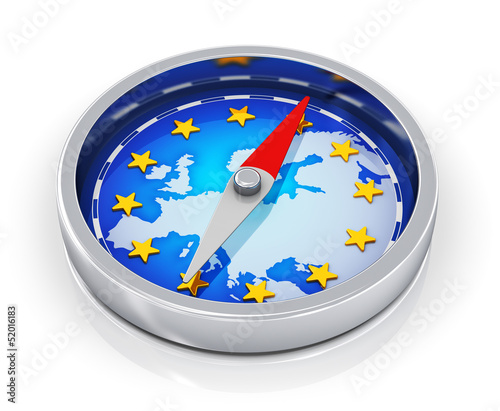 Leinwandbild Motiv Compass of Europe