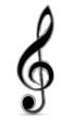 Violinschlüssel mit Pinsel-Effekt