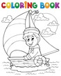 Coloring book sailor theme 1