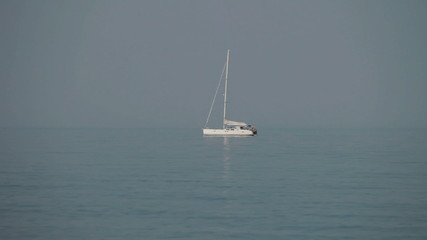 lone boat in the sea