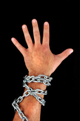 hand with chains