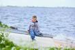 Little boy near sea