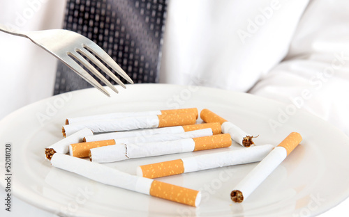 Plate with Cigarettes