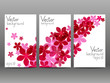 Floral vertical banners for Your design