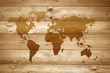 Wood-Background with Worldmap