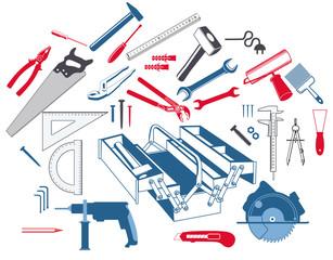 Handwerkzeug mit Werkzeugkasten