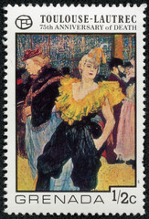 Touloise-Lautrec - The clown Cha-U-Kao at the Moulin Rouge