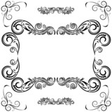 Frame ornament vintage floral design, EPS8 - vector graphics.
