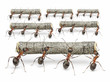 ants work with logs, teamwork concept