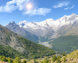 Saas Fee with surroundinmg mountains