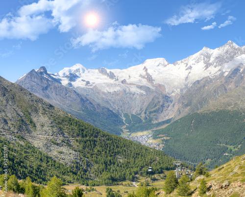 Saas Fee with surroundinmg mountains © mlehmann78
