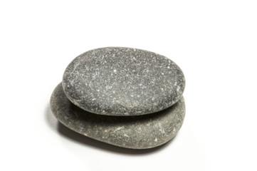 runde Flusssteine gestapelt