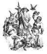 Постер, плакат: GermanicNordic Gods : Freya Wotan Thor