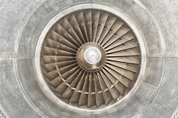 Airplane gas turbine engine detail