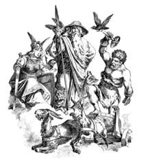 Germanic/Nordic Gods : Freya - Wotan - Thor