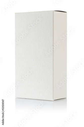 a white paper box isolated