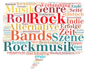Rock - Rockmusik (tag cloud)