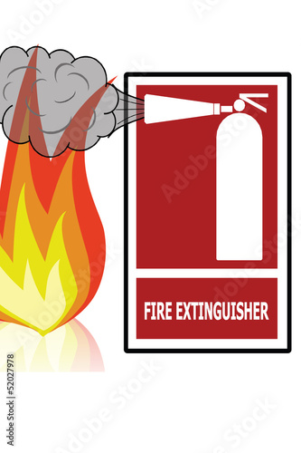 Safety first concept (Portable Fire Extinguisher)