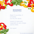 Paper into the cell banner with sweet peppers for your recipe